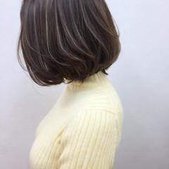 フェミニン ニュアンス 大人かわいい グレージュ ヘアスタイルや髪型の写真・画像