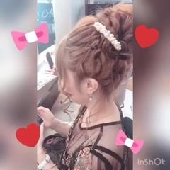 結婚式 デート ヘアアレンジ アップスタイル ヘアスタイルや髪型の写真・画像