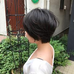 小顔ショート ベリーショート ショートバング ショート ヘアスタイルや髪型の写真・画像