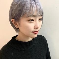 ショート ブリーチカラー ダブルブリーチ ベリーショート ヘアスタイルや髪型の写真・画像
