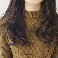 グラデーションカラー 外国人風 ナチュラル セミロング ヘアスタイルや髪型の写真・画像