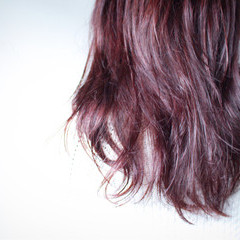 ナチュラル ラベンダーピンク セミロング モーブ ヘアスタイルや髪型の写真・画像