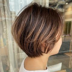 ブリーチカラー ショート ショートボブ ショートヘア ヘアスタイルや髪型の写真・画像