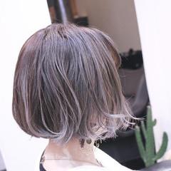 こなれ感 外ハネ ボブ バレイヤージュ ヘアスタイルや髪型の写真・画像