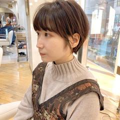 ショートヘア ショート 横顔美人 ナチュラル ヘアスタイルや髪型の写真・画像