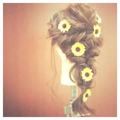 ヘアアレンジ モテ髪 外国人風 ガーリー ヘアスタイルや髪型の写真・画像