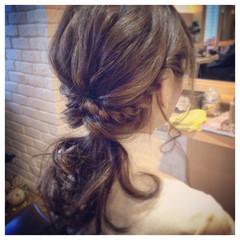 セミロング ゆるふわ ヘアアレンジ 簡単ヘアアレンジ ヘアスタイルや髪型の写真・画像
