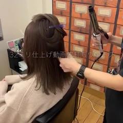アンニュイほつれヘア ミディアム 大人かわいい 切りっぱなしボブ ヘアスタイルや髪型の写真・画像