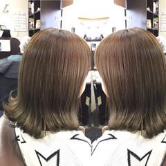 ナチュラル グラデーションカラー ロブ ミディアム ヘアスタイルや髪型の写真・画像