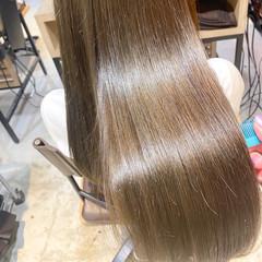 ストレート 縮毛矯正ストカール ミディアムレイヤー 縮毛矯正 ヘアスタイルや髪型の写真・画像