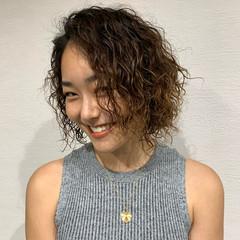 ボブ ゆるふわパーマ 外国人風パーマ ストリート ヘアスタイルや髪型の写真・画像