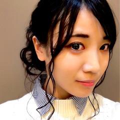 黒髪 ヘアアレンジ ロング 暗髪 ヘアスタイルや髪型の写真・画像