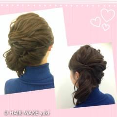ヘアアレンジ 結婚式 ミディアム ナチュラル ヘアスタイルや髪型の写真・画像