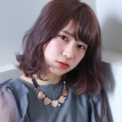 コンサバ ゆるふわ ラベンダーピンク フェミニン ヘアスタイルや髪型の写真・画像