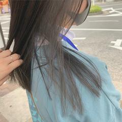 透明感カラー ロング アッシュグレージュ インナーカラー ヘアスタイルや髪型の写真・画像