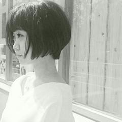 ショート モード 大人女子 黒髪 ヘアスタイルや髪型の写真・画像