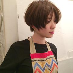 ショート リラックス ショートボブ ナチュラル ヘアスタイルや髪型の写真・画像