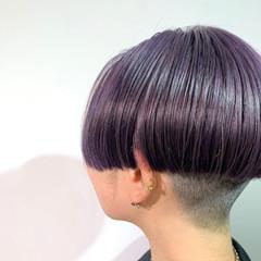 刈り上げ女子 ブリーチ ショート ベリーショート ヘアスタイルや髪型の写真・画像