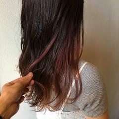 バイオレットアッシュ アッシュバイオレット エレガント セミロング ヘアスタイルや髪型の写真・画像