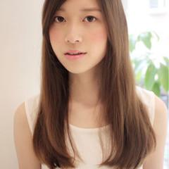 モテ髪 ロング 大人かわいい ストレート ヘアスタイルや髪型の写真・画像
