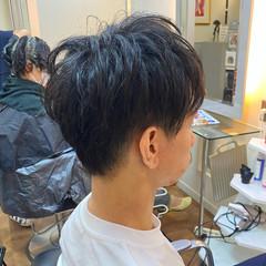 ナチュラル ツーブロック メンズショート メンズカット ヘアスタイルや髪型の写真・画像