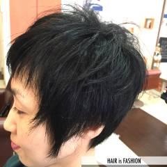 ナチュラル ショート ベース型 ストリート ヘアスタイルや髪型の写真・画像