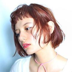 ピュア 切りっぱなし 外国人風 ナチュラル ヘアスタイルや髪型の写真・画像