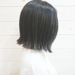 アッシュグレー 大人かわいい ボブ アッシュ ヘアスタイルや髪型の写真・画像