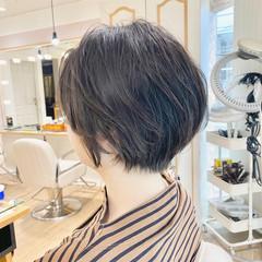 ナチュラル 小顔ショート ベリーショート ショートヘア ヘアスタイルや髪型の写真・画像