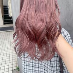 韓国ヘア ラベンダーアッシュ ロング ガーリー ヘアスタイルや髪型の写真・画像