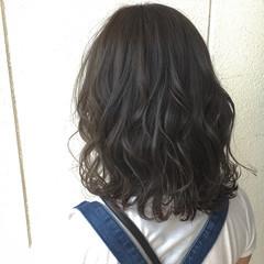 ミディアム ニュアンス 外国人風 フェミニン ヘアスタイルや髪型の写真・画像