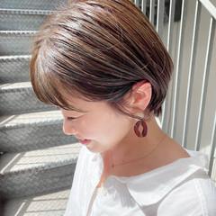 大人かわいい ショート ショートボブ ナチュラル ヘアスタイルや髪型の写真・画像