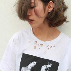 ストリート ボブ 色気 ミルクティー ヘアスタイルや髪型の写真・画像