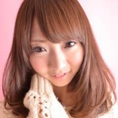 ガーリー 丸顔 ミディアム フェミニン ヘアスタイルや髪型の写真・画像
