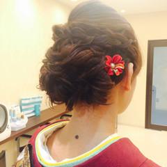 ブライダル 結婚式 編み込み ロング ヘアスタイルや髪型の写真・画像