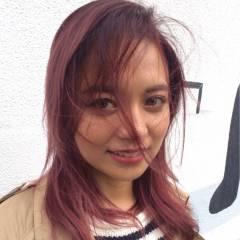 グラデーションカラー ロブ シースルーバング ストリート ヘアスタイルや髪型の写真・画像