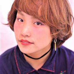 ハイライト パーマ ボブ ヘアアレンジ ヘアスタイルや髪型の写真・画像