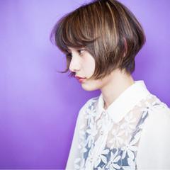 ベリーショート ショート 黒髪 ウェットヘア ヘアスタイルや髪型の写真・画像