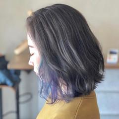 ハイトーン ストリート ダブルカラー ミディアム ヘアスタイルや髪型の写真・画像