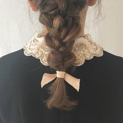フェミニン ヘアアレンジ セミロング デート ヘアスタイルや髪型の写真・画像