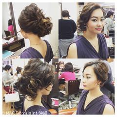 結婚式 シニヨン パーティ ルーズ ヘアスタイルや髪型の写真・画像