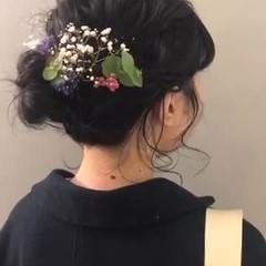 ヘアアレンジ 結婚式 成人式 ミディアム ヘアスタイルや髪型の写真・画像