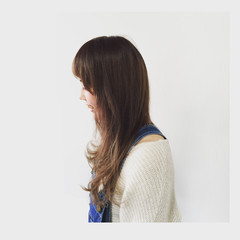 ゆるふわ ハイトーン フェミニン グラデーションカラー ヘアスタイルや髪型の写真・画像