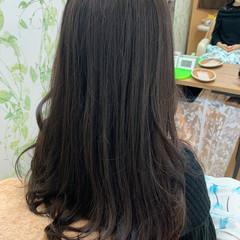 くびれカール フェミニン ロング ゆるふわパーマ ヘアスタイルや髪型の写真・画像