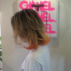 色気 グラデーションカラー カラートリートメント ミディアム ヘアスタイルや髪型の写真・画像
