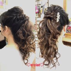 コンサバ ヘアアレンジ 女子会 結婚式 ヘアスタイルや髪型の写真・画像