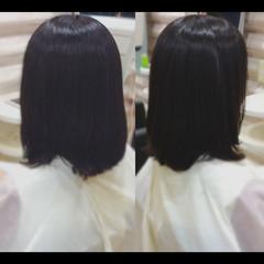 パーマ ナチュラル 大人ミディアム デジタルパーマ ヘアスタイルや髪型の写真・画像