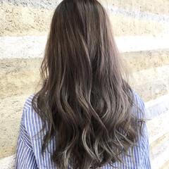 グラデーションカラー ロング アンニュイ ハイライト ヘアスタイルや髪型の写真・画像
