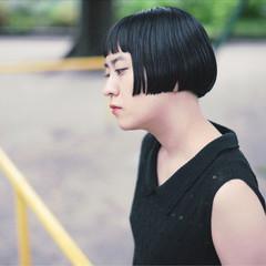 黒髪 ショートボブ 外国人風 ボブ ヘアスタイルや髪型の写真・画像