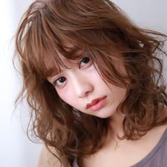 ナチュラル 鎖骨ミディアム ミディアムレイヤー モテ髪 ヘアスタイルや髪型の写真・画像